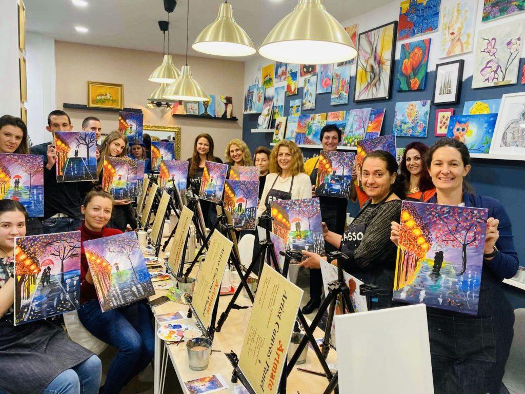 Рисуване и вино в София